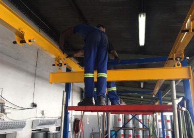Crawl beam fabrication