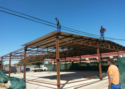 Mapunaneng Hospital Steel Structure in Progress